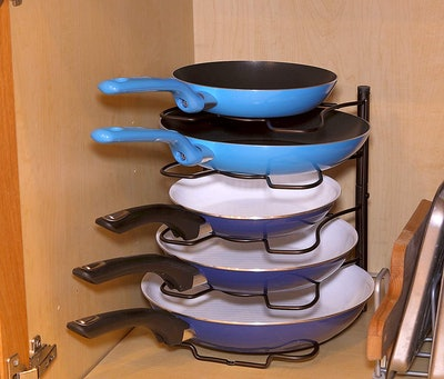 SimpleHouseware Kitchen Cabinet Pantry Pan Organizer