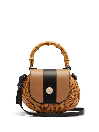 Marina Wicker Basket Bag