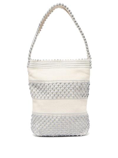 Bultei Pompom Woven Shoulder Bag
