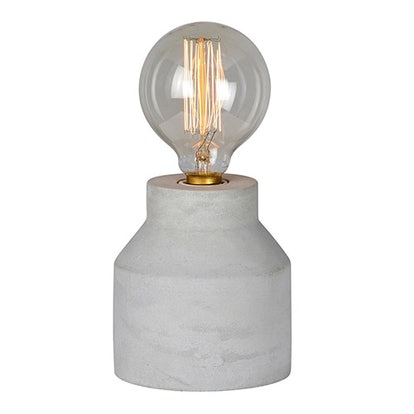 Gray Cement Accent Lamp