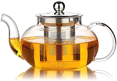 HIWARE Glass Teapot with Stainless Steel Infuser