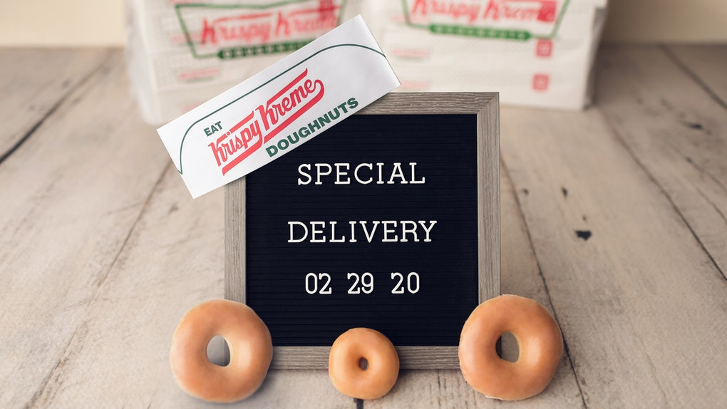 Krispy Kreme is launching national doughnut delivery starting on Feb. 29.