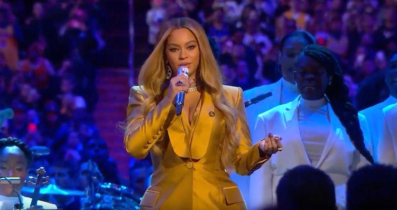 Beyoncé Performs At Kobe Bryant's Memorial