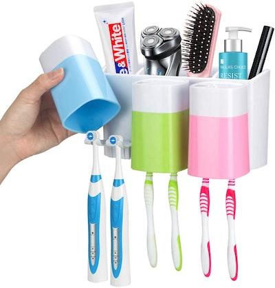 iHave Wall Mounted Toothbrush Bathroom Organizer