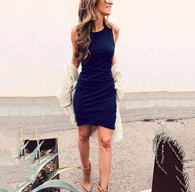 BTFBM Ruched Bodycon Dress
