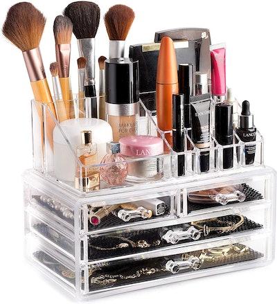 Masirs Clear Cosmetic Storage Organizer