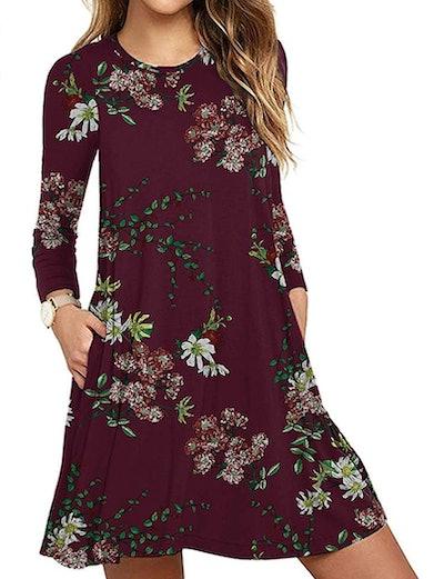 Unbranded Long Sleeve Pocket Dress