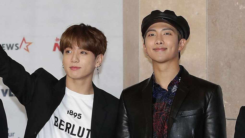 As BTS' only fluent English-speaker, RM does most of the talking in interviews. However, Jungkook revealed he's learning English, and this video of BTS' Jungkook teaching RM slang proves he's come a long way.