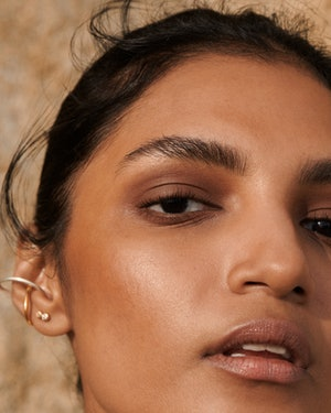 Glossier's new product is a liquid to powder eyeshadow.