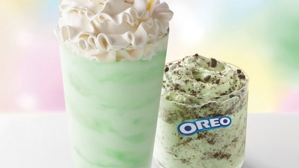 The Oreo Shamrock McFlurry is a limited-edition treat.