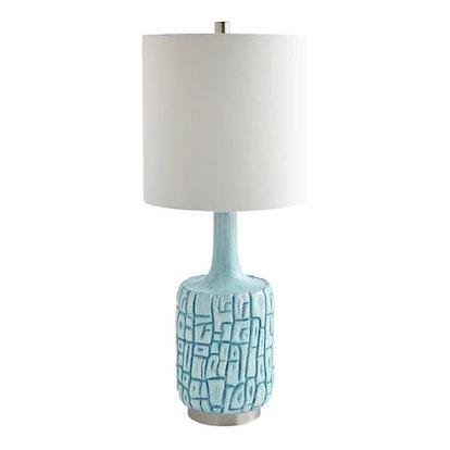 Aztec Aqua Table Lamp