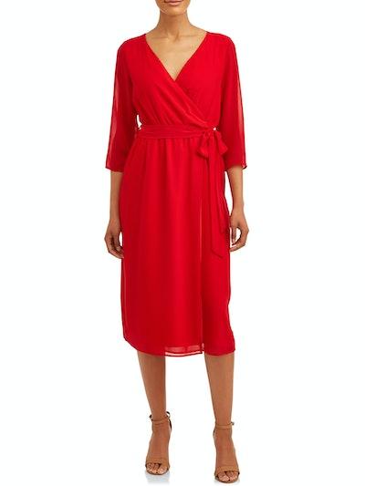 Love Sadie Women's Wrap Woven Dress