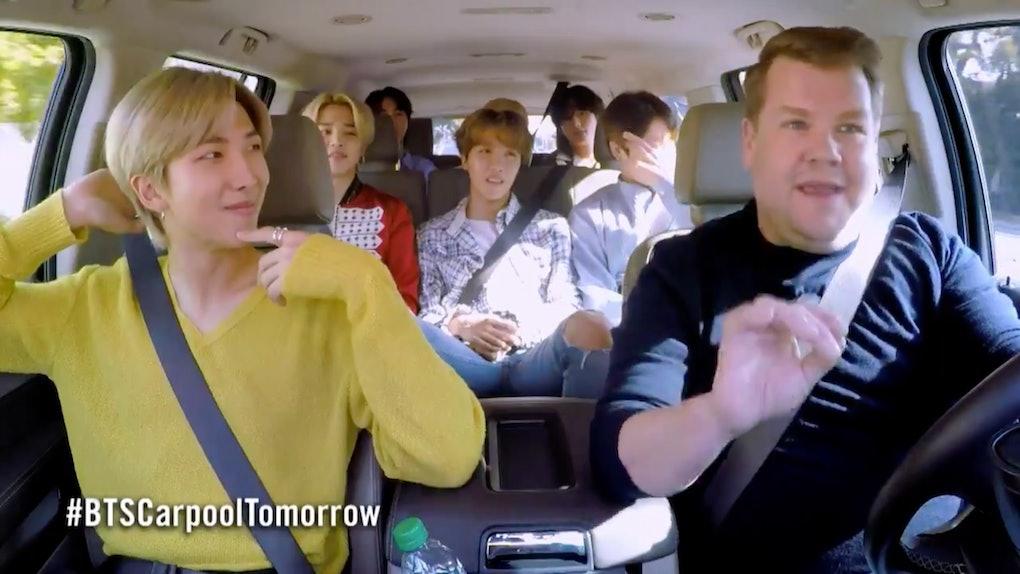 BTS appear in an episode of Carpool Karaoke with James Corden.