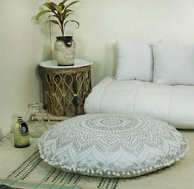 Popular Handicrafts Mandala Round Floor Cushion Cover