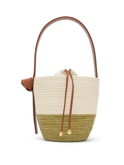 Lunchpail Sisal Basket Bag