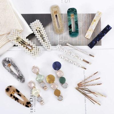 Cehomi Pearl Hair Clips (20-Pieces)