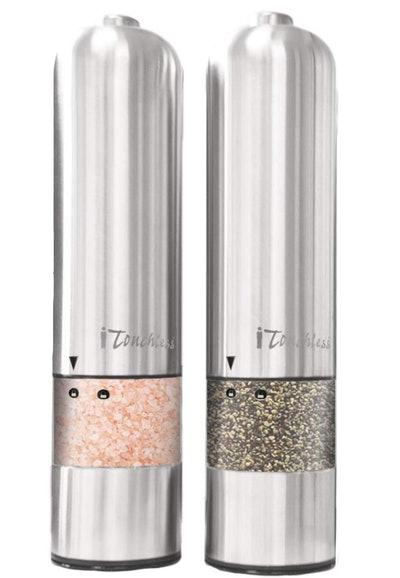 iTouchless Automatic Electric Salt and Pepper Grinder Set