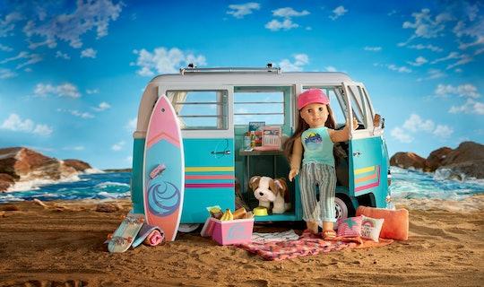 American girl 2020 joss Kendrick and her Volkswagen bus