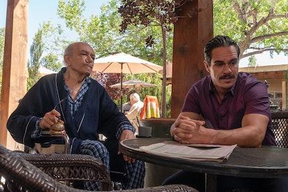 Mark Margolis as Don Hector Salamanca and Tony Dalton as Lalo Salamanca in Better Call Saul Season 5