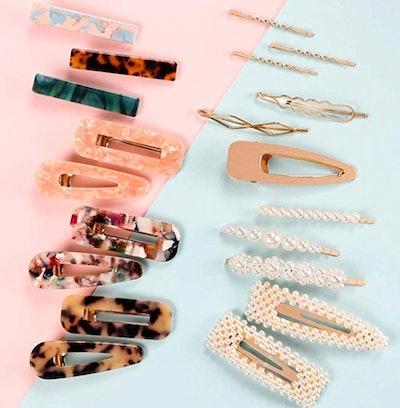 Syeenify Fashion Hair Clips Set (20-Pack)