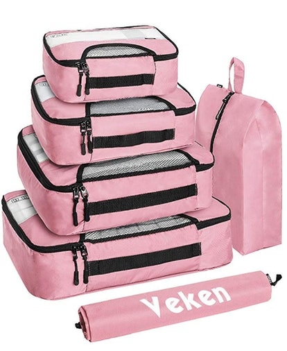Veken Travel Organizer with Laundry Bag (6-pieces)