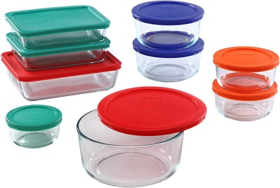 Pyrex Meal Prep Containers (18 Pieces)