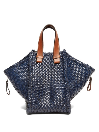 Hammock Small Woven-Leather Tote Bag