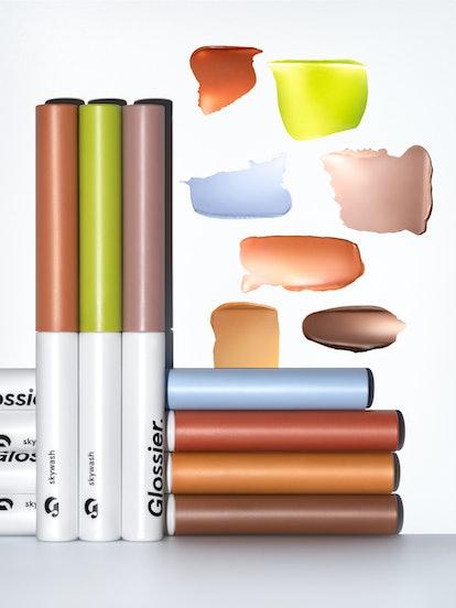 Glossier Skywash is a liquid to powder eyeshadow.