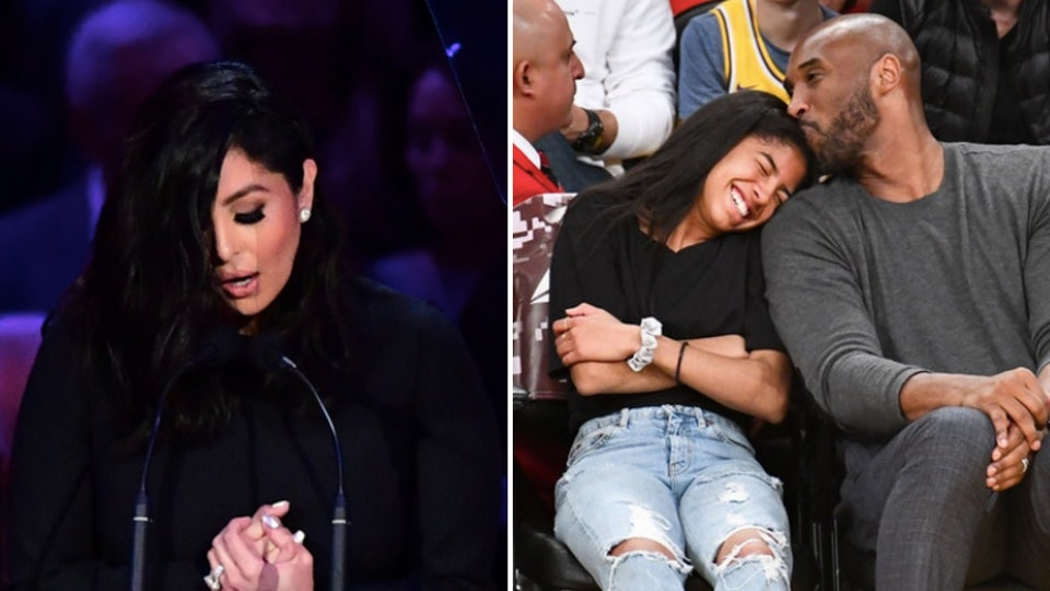 Vanessa Bryant's speech about Kobe and Gigi's close bond  was so heartbreaking.