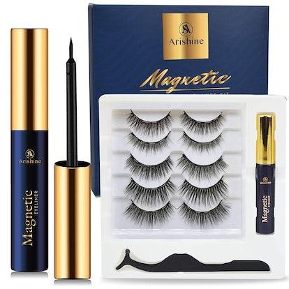 Arishine Magnetic Eyelashes and Eyeliner Kit (5 Pairs)