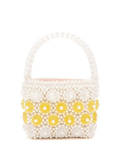 Shelly Faux-Pearl Embellished Bag