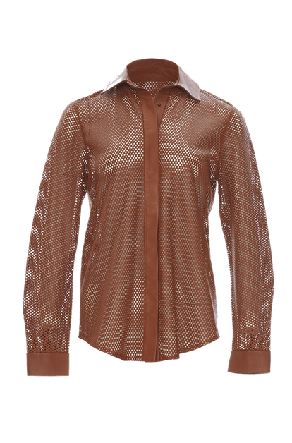 Perforated Leather Shirt
