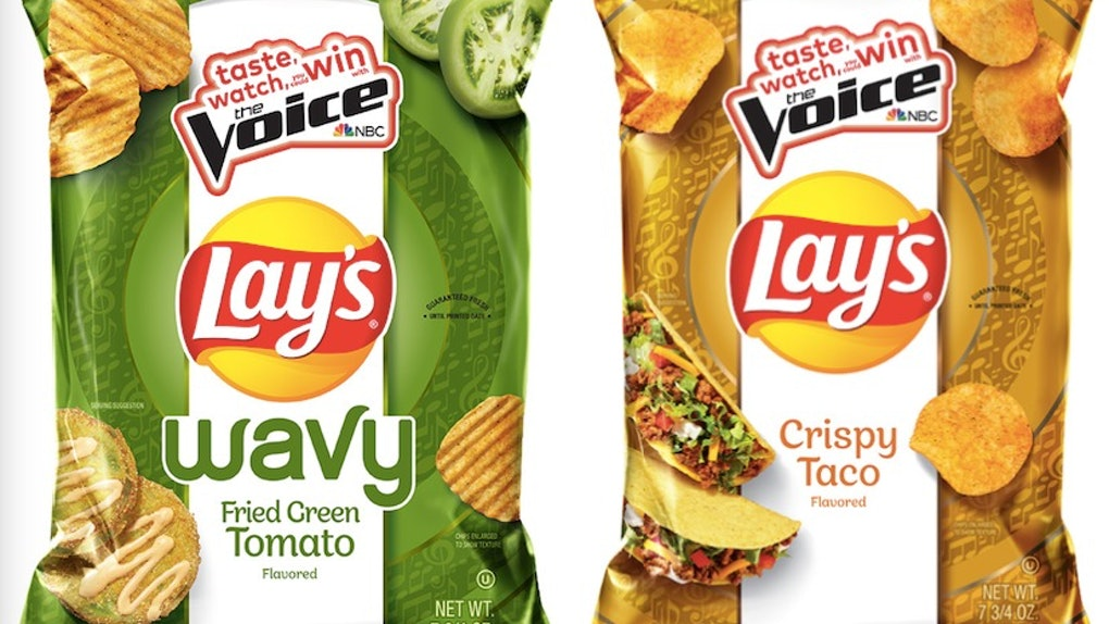 Lay's new Potato Chip flavors include Fried Green Tomato and Crispy Taco