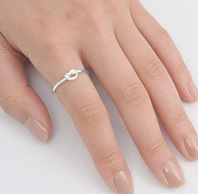 Sac Silver Sterling Silver Knot Ring
