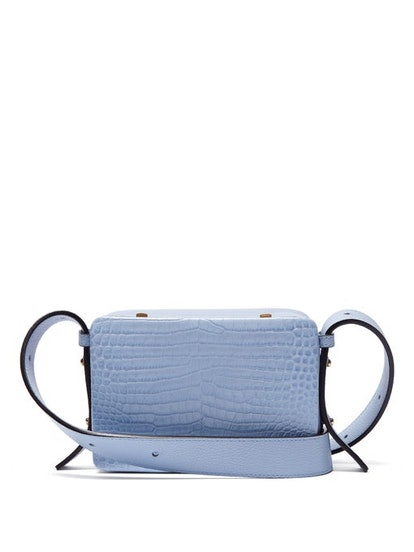 Maya Crocodile-Effect Leather Cross-Body Bag