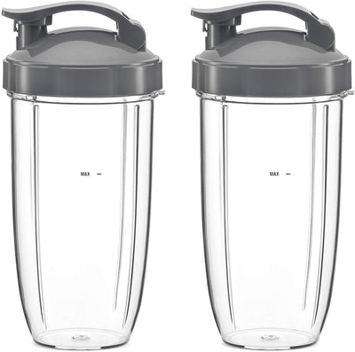 NutriBullet Flip Top Cup With To-Go Lid (2-Pack of 32-Oz Cups)