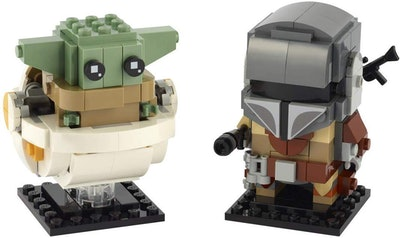 LEGO BrickHeadz Baby Yoda and The Mandalorian