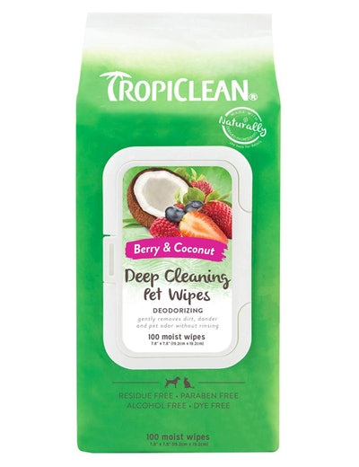 TropiClean Cleaning Wipes for Pets