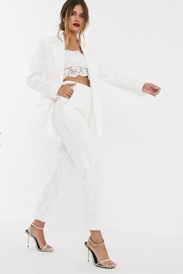 ASOS EDITION lace wedding pants