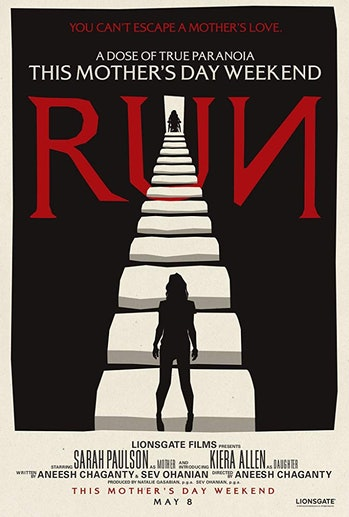 Run poster Sarah Paulson illustrated