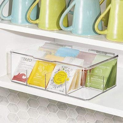 mDesign Tea Bag Single Serve Pouch Organizer