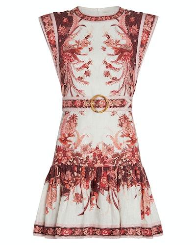 Wavelength Fluted Linen Dress