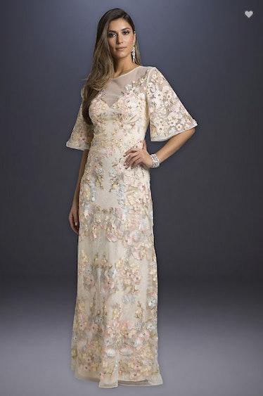 Lara Alexis Floral Lace Wedding Dress