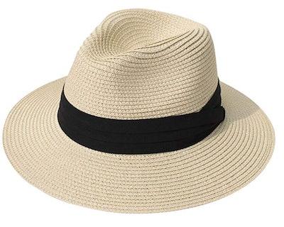 Lanzom Women Wide Brim Hat
