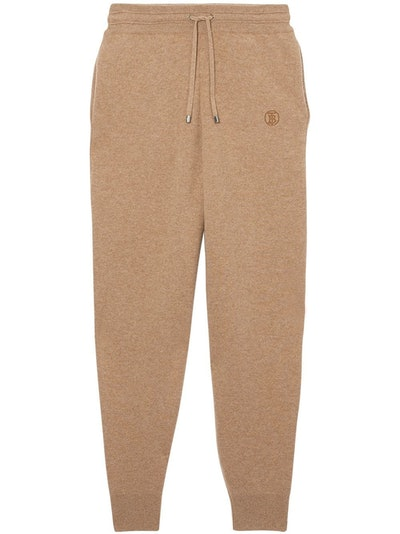 Monogram Cashmere Track Pants