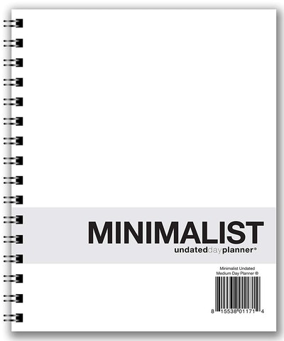 Action Publishing Undated Minimalist Day Planner