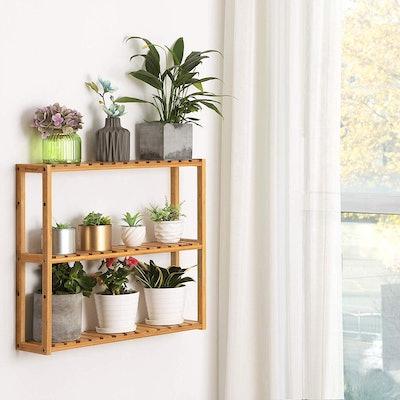 SONGMICS Bamboo Shelves