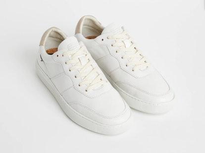 The Drift Sneaker in White + tan