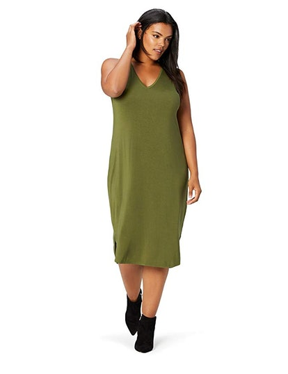 Amazon Brand - Daily Ritual Women's Plus Size Sleeveless V-Neck Dress