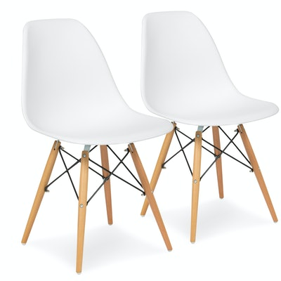 Set of 2 Eames Style Dining Chairs